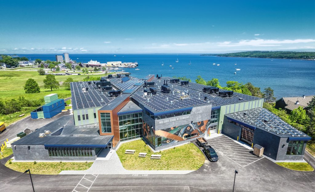 Aerial Shot of New Building